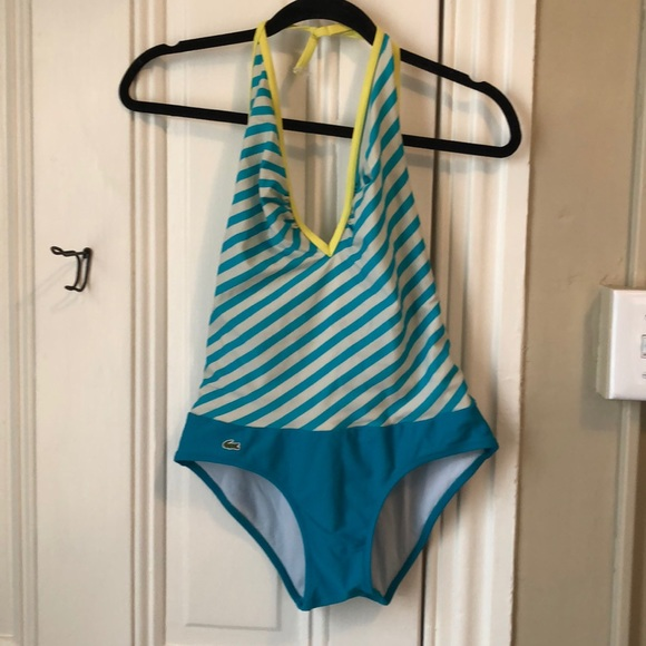 Lacoste Other - Lacoste deep v one piece bathing suit